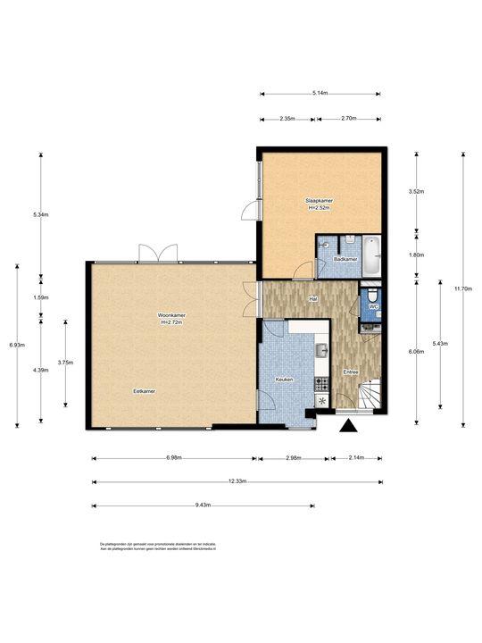 An Vellekoophof 1, Voorburg floorplan-1