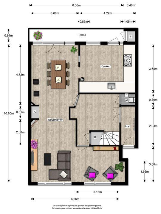 Laan van Nieuw Oosteinde 498, Voorburg floorplan-0