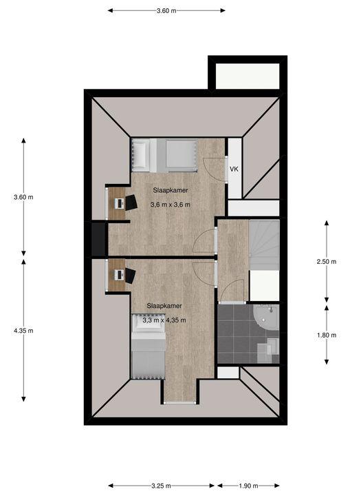 van Pabstlaan 28, Voorburg floorplan-3
