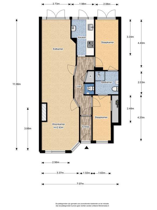 Stuyvesantstraat 250, Den Haag floorplan-0