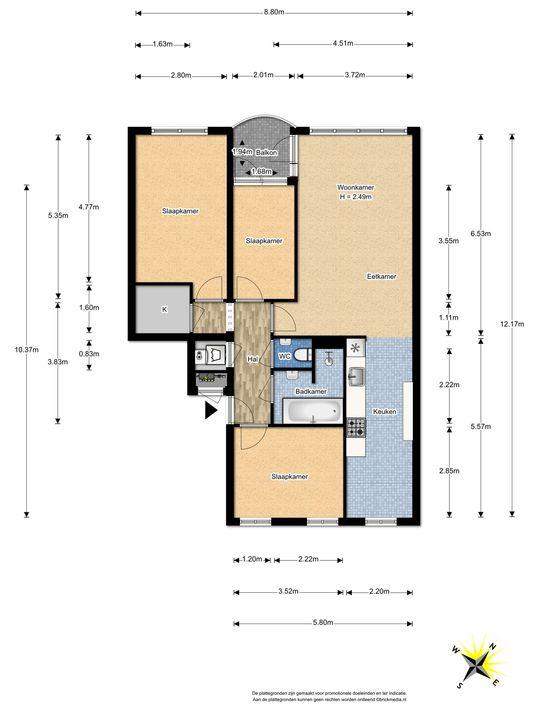 Margarethaland 291, Den Haag floorplan-0