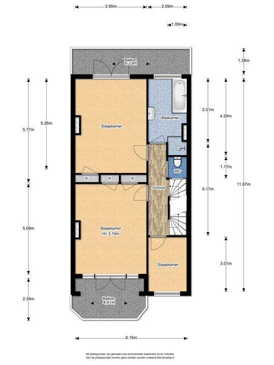 Koninginnelaan 11, Voorburg floorplan-1