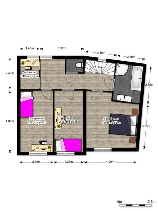 Via Cimarosa 16, Voorburg floorplan-1