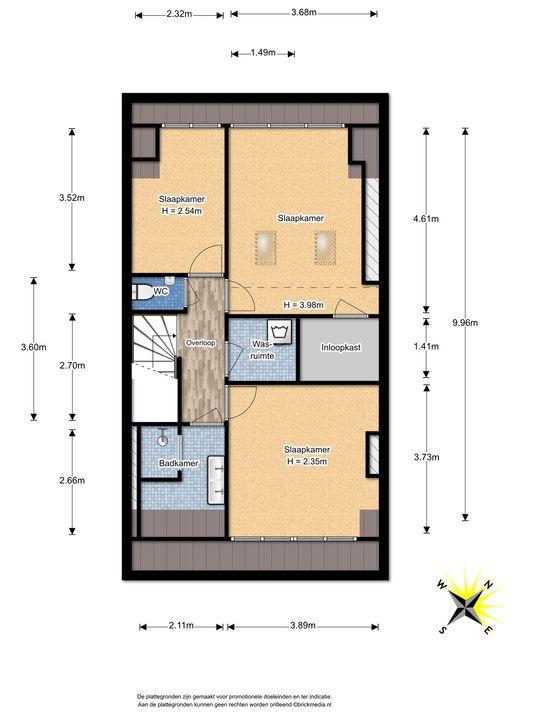 Prinses Mariannelaan 226, Voorburg floorplan-2