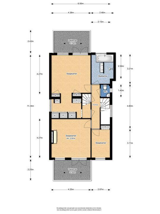 Oosteinde 113, Voorburg floorplan-2