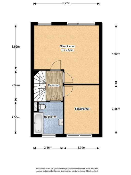 Biancaland 130, Den Haag floorplan-1