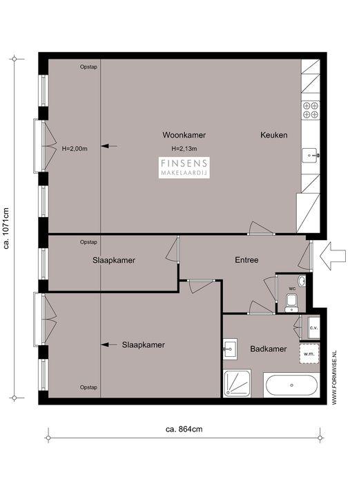 Koggestraat 5 -2, Upper floor apartment in Amsterdam Plattegronden-0