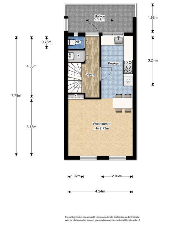 Voorhofstraat 8, Voorburg floorplan-1