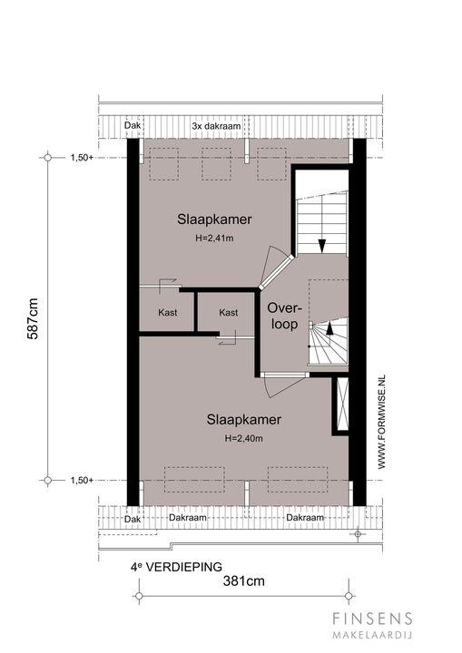 Da Costastraat 135 III -R, Bovenwoning in Amsterdam Plattegronden-1