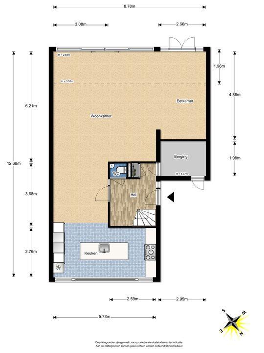 Berkelstroom 115, Zoetermeer floorplan-1