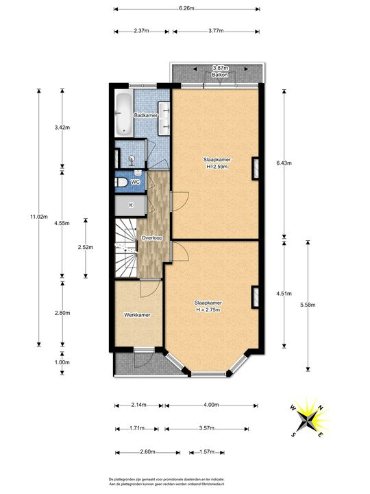 Prinses Mariannelaan 226, Voorburg floorplan-1