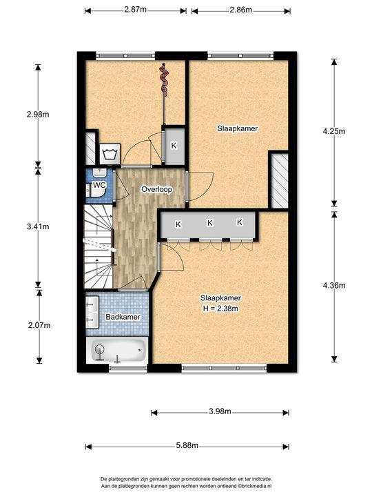 Mauvelaan 3, Leidschendam floorplan-1