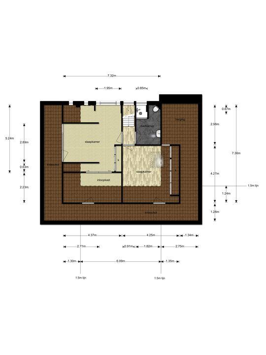 Zuideinde 36, Zevenhoven plattegrond-