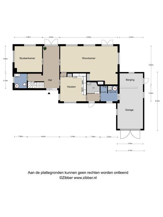 Jan van Rotselaerlaan 11, Waalre plattegrond-