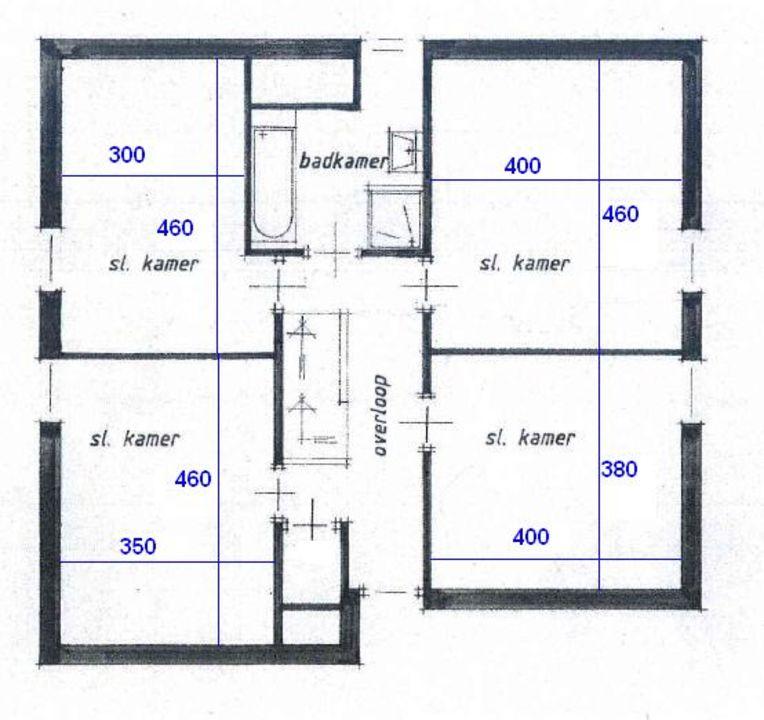Moostdijk 16, Ospel plattegrond-
