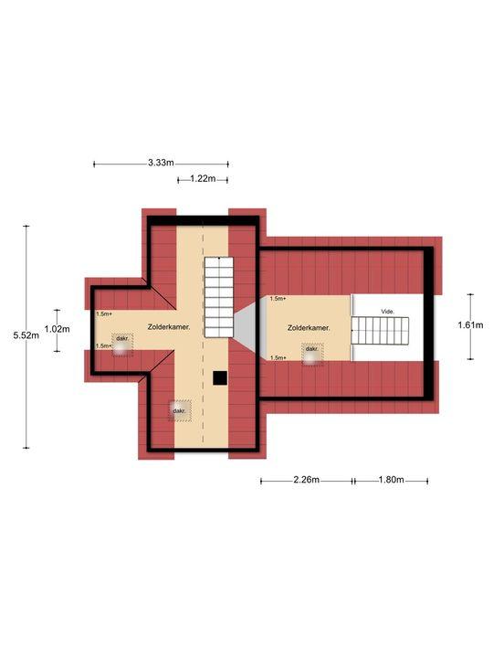 Vosseveldlaan 44, Soest plattegrond-