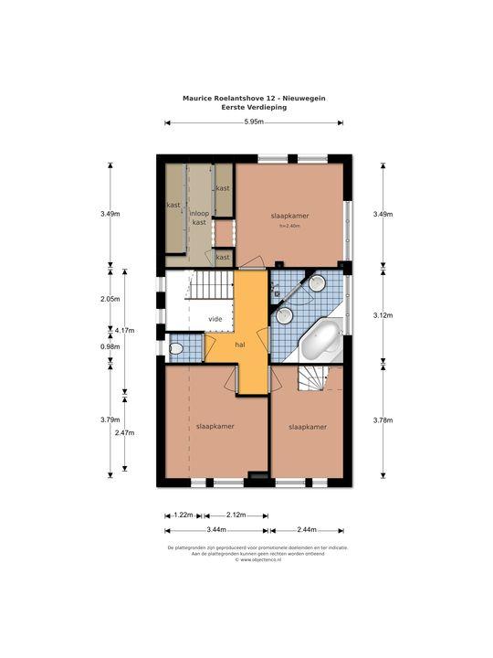 Maurice Roelantshove 12, Nieuwegein plattegrond-