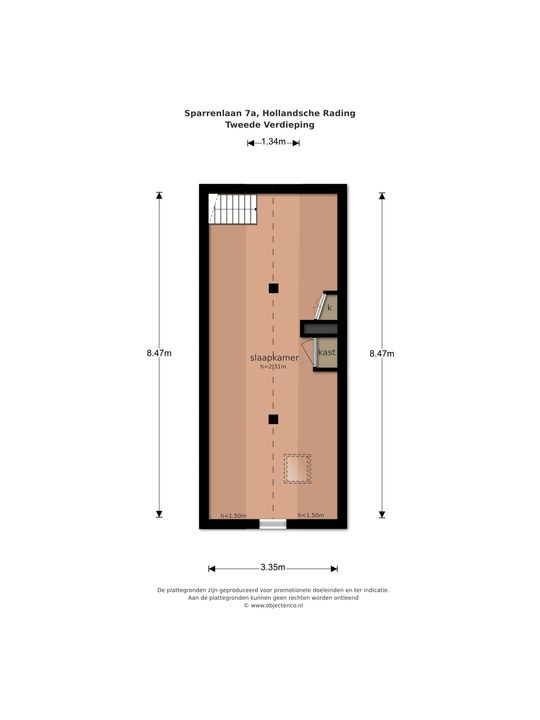Sparrenlaan 7 a, Hollandsche Rading plattegrond-