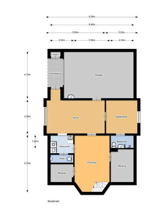 Kasteelselaan 2 a, Ubbergen plattegrond-