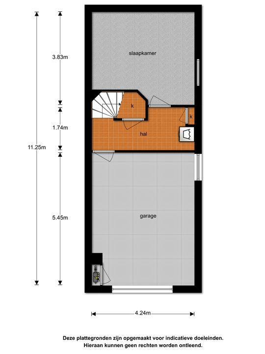 Verlengde Marnixstraat 18 b, Alphen aan den Rijn plattegrond-