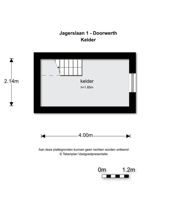 Jagerslaan 1, Doorwerth plattegrond-
