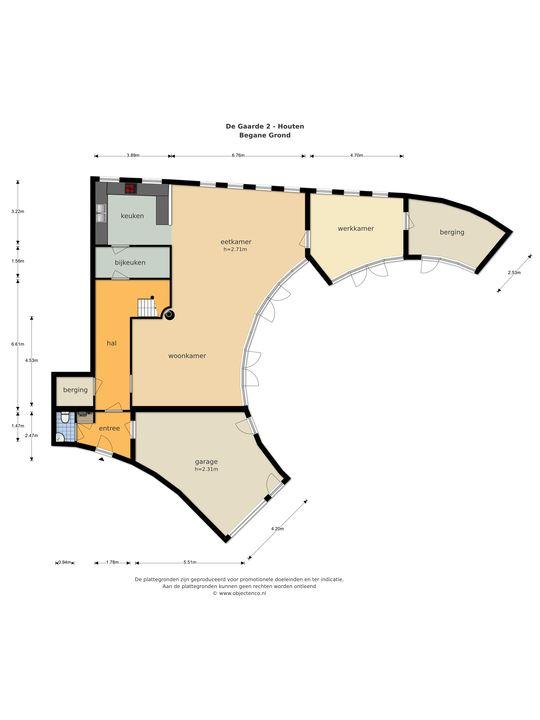 De Gaarde 2, Houten plattegrond-