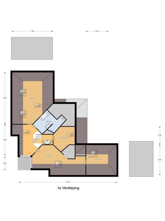 Vlinderslag 51, Almkerk plattegrond-