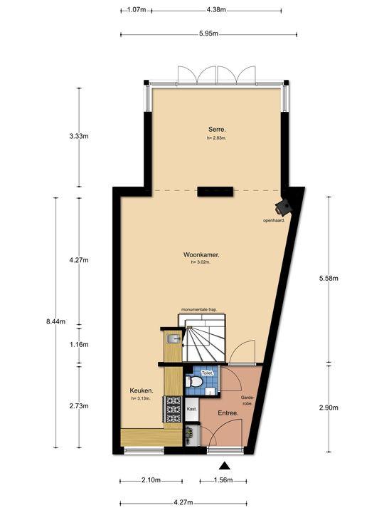 Zuidsingel 35 b, Amersfoort plattegrond-
