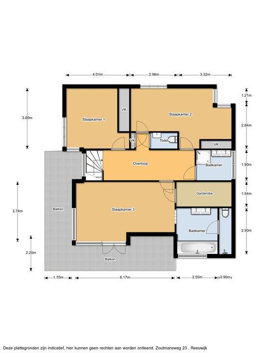 Zoutmansweg 23, Reeuwijk plattegrond-