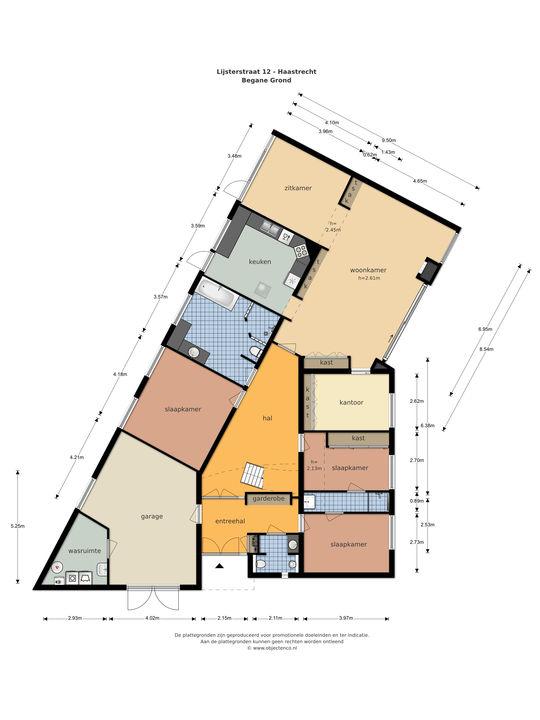 Lijsterstraat 12, Haastrecht plattegrond-