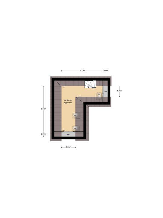 Middenlaan 3, Soest plattegrond-