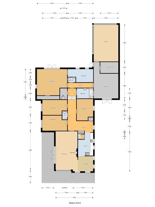 Parnassialaan 32, Oostvoorne plattegrond-