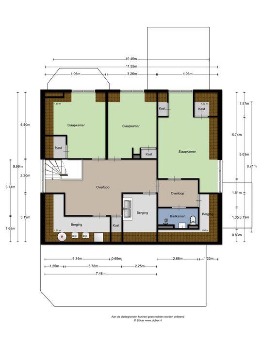 Dorpsstraat 9, Warmond plattegrond-