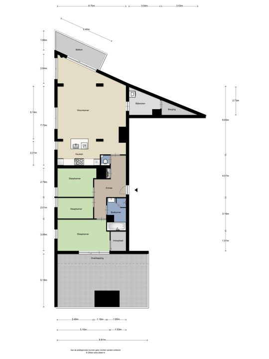 Binnenrotte 327, Rotterdam plattegrond-