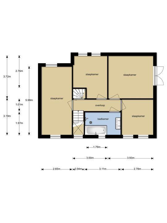 Dobbehof 51, Goutum plattegrond-
