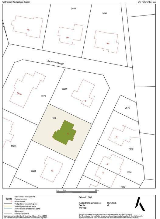 Zwartveldsingel 38, Roggel plattegrond-