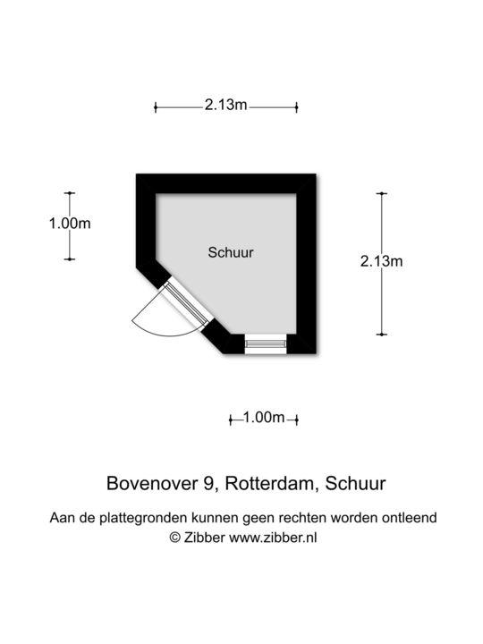 Bovenover 9, Rotterdam plattegrond-