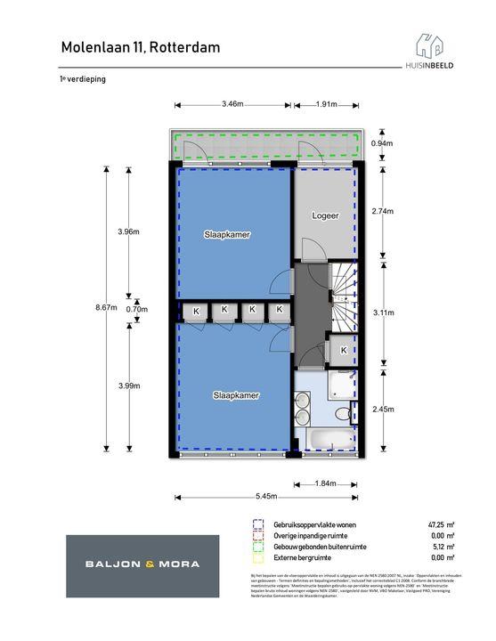 Molenlaan 11, Rotterdam plattegrond-