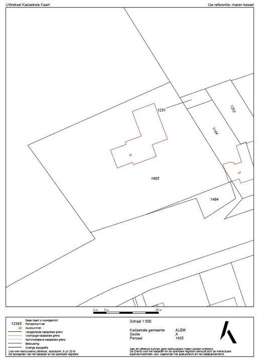 Provincialeweg 51, Maren-Kessel plattegrond-