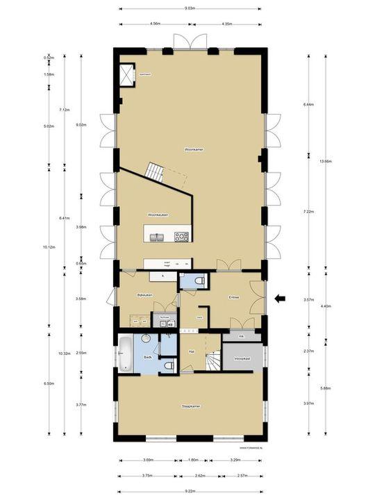 Bankrasweg 12, Amstelveen plattegrond-