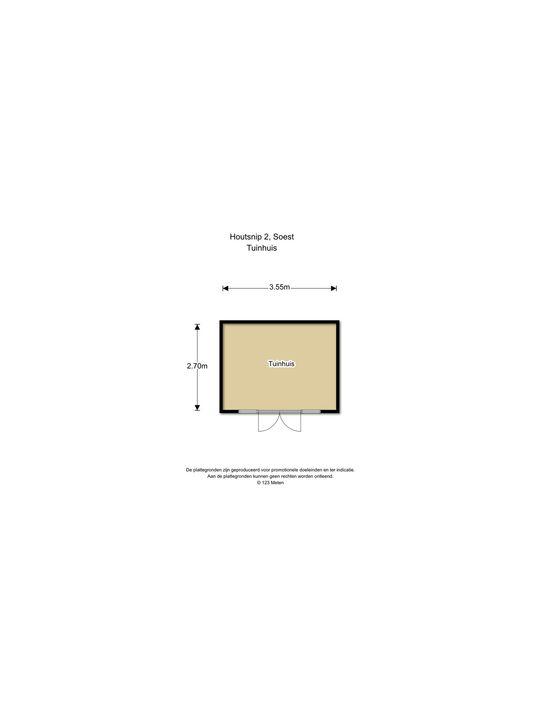 Houtsnip 2, Soest plattegrond-