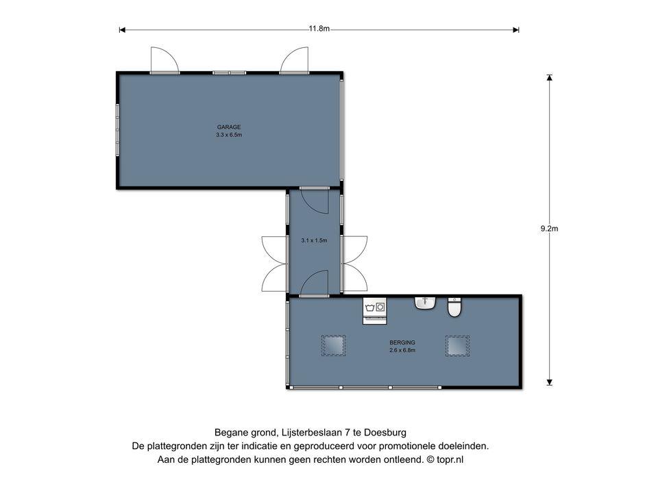 Lijsterbeslaan 7, Doesburg plattegrond-