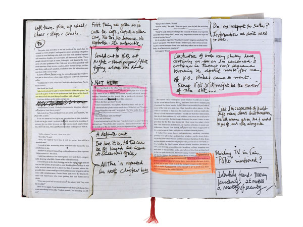 Bruce Robinson's annotated notes from The Rum Diary
