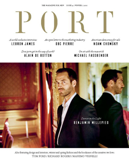 Port issue 4 cover featuring Benjamin Millepied
