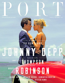 Port issue 3 cover, featuring Johnny Depp and Amber Heard