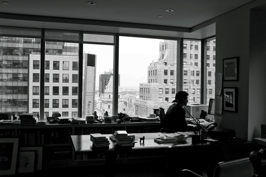 David Remnick in his office