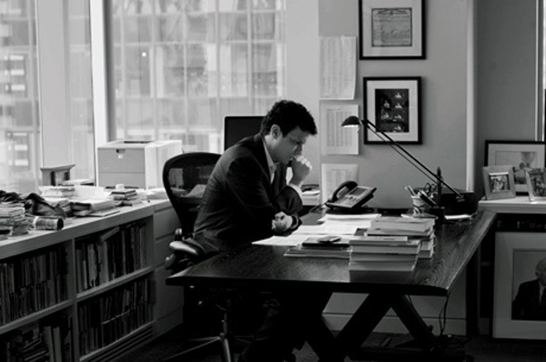 David Remnick at his desk