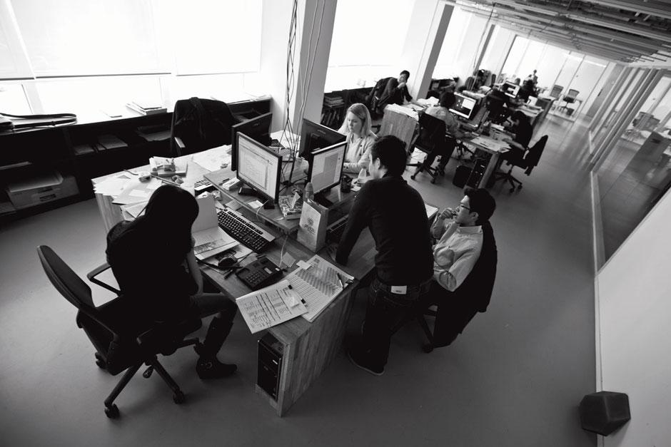 Interior shot of Scheeran's busy studion in Beijing.
