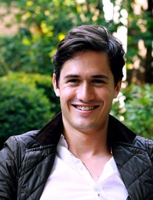 Charlie Siem: Portrait of him grinning happily