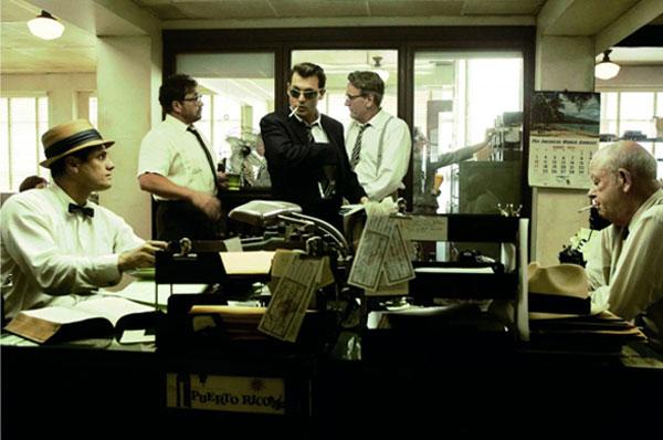 Johnny Depp in the newsroom scene, The Rum Diary